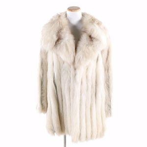 The Parisian Blue Fox Fur Coat Vintage